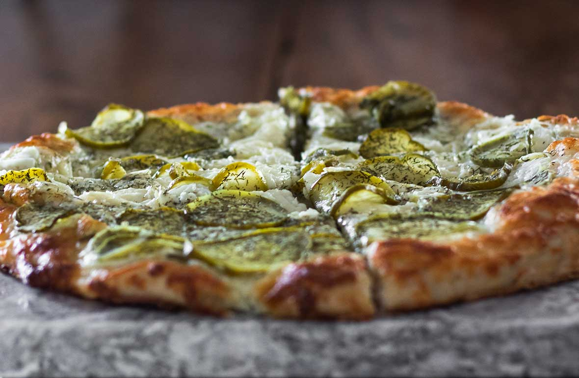 QC Frozen Pizza - Kinda Big Dill - Ready to serve.
