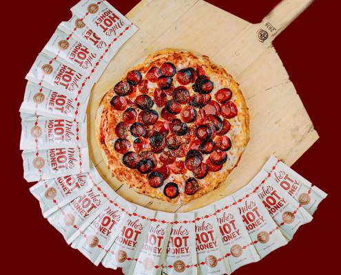 QC Frozen Pizza - Quad City Style Pizza - Ezzo Supreme Cup Pepperoni Pizza w/ Mikes Hot Honey Sauce