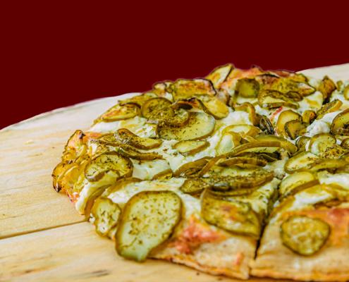 The Famous Kinda Big Dill Frozen Pizza - QC Frozen Pizza - Quad City Style Pizza